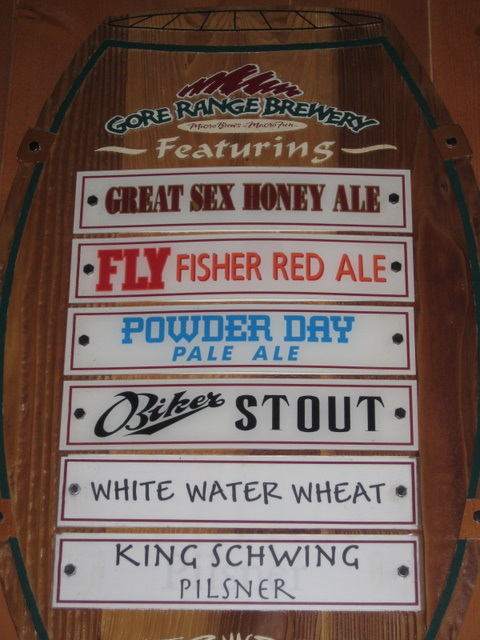 Beer list, food sales are paramount