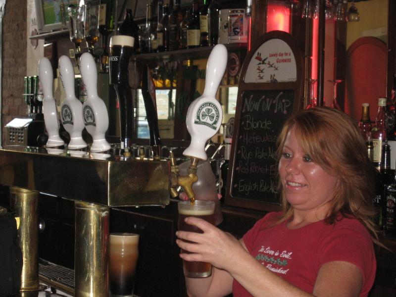 Bobbie at taps,  Shamrock...Irish....redhead... works for me