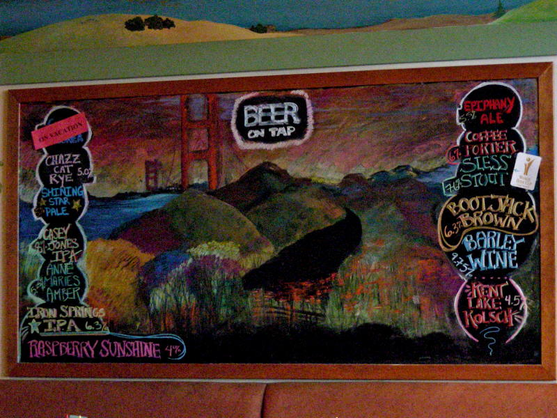 Chalkboard tap list - 09/08