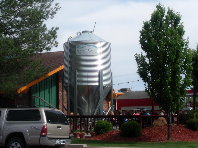 Patio by the silo