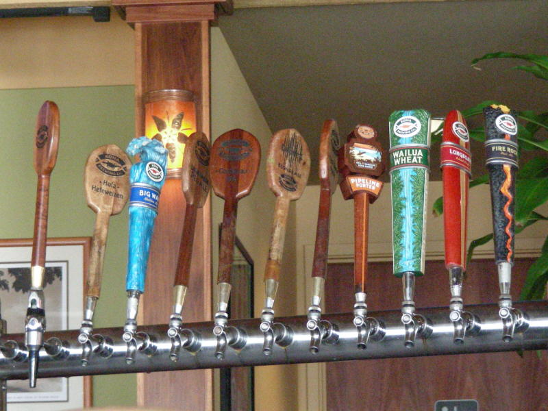 Taps at the Kona bar