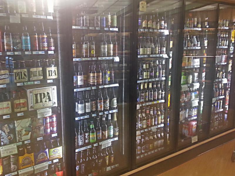 Well stocked beer cooler