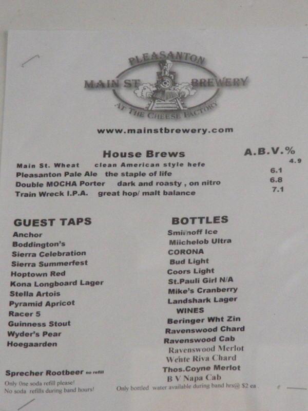 Printed Brew List - 06/09