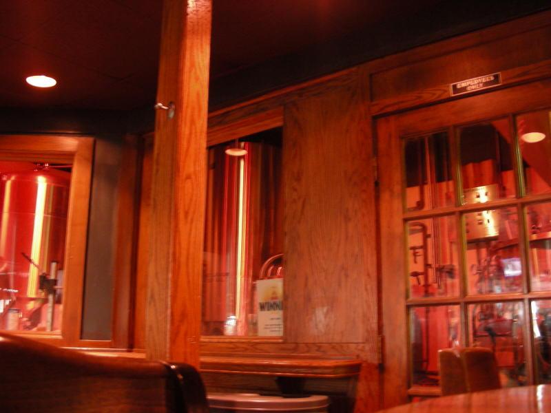 Brew room near the bar