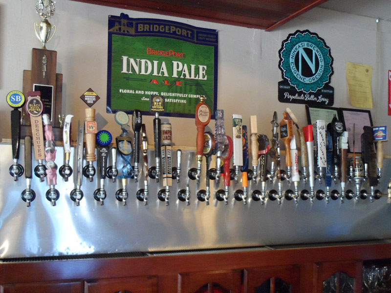 Wall of taps