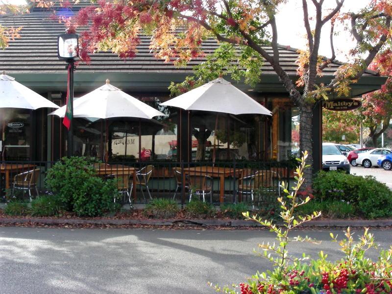 Maltby's sidewalk seating