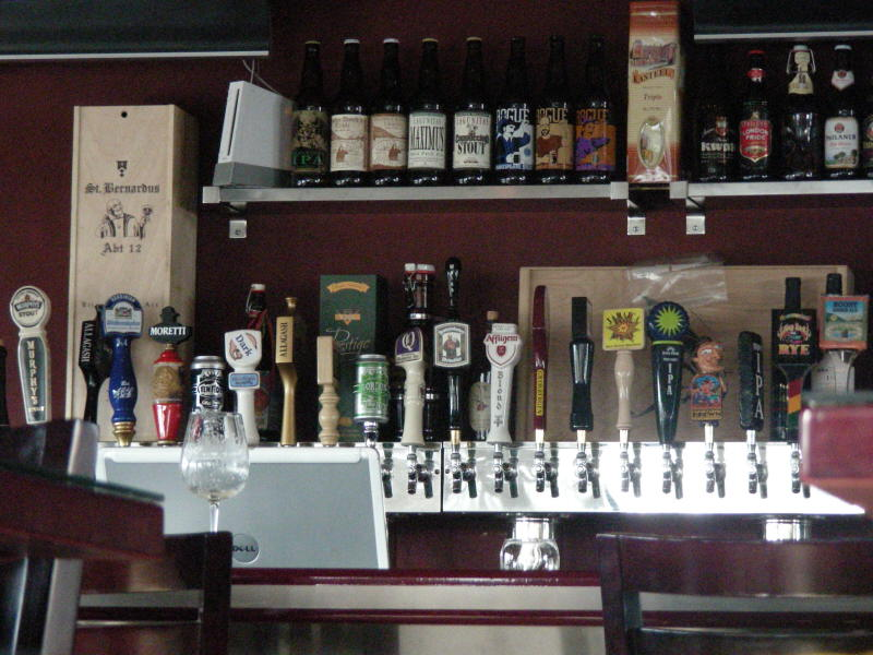 Taps and a few bottles