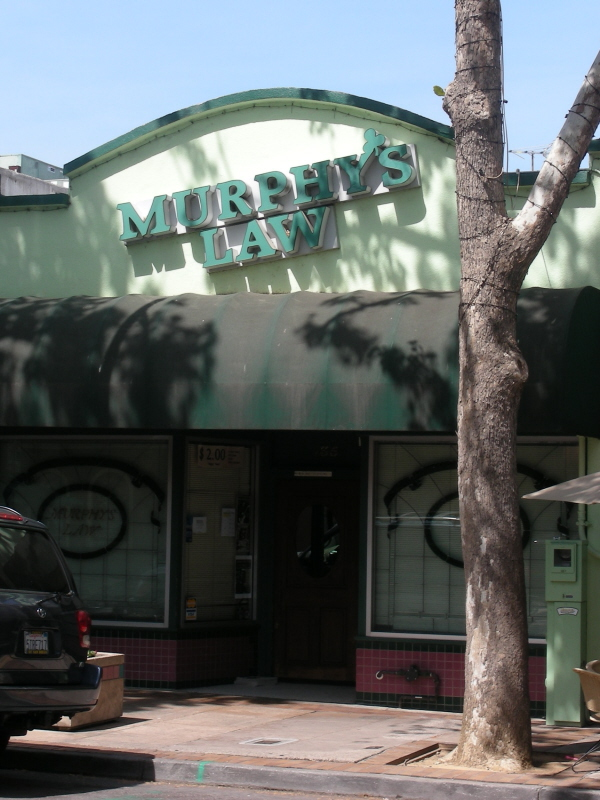 Murphy's Law front entry