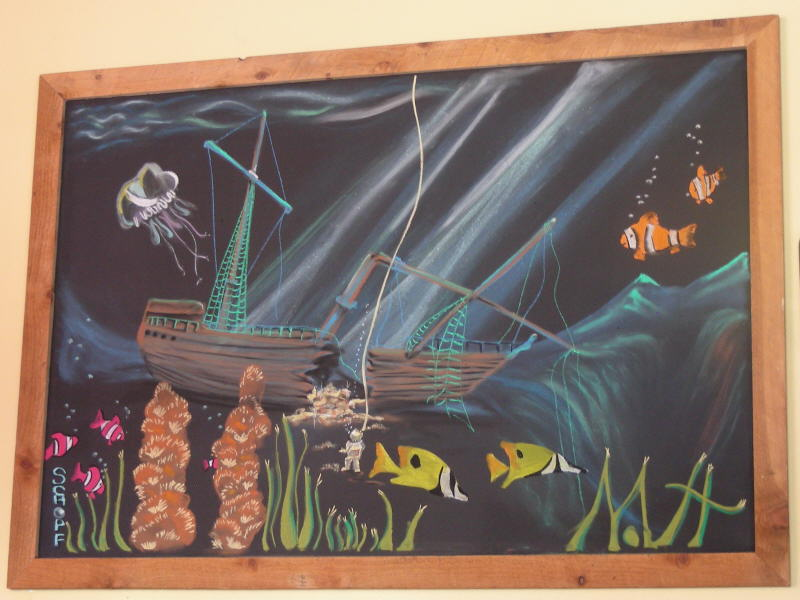 Artistic chalk board