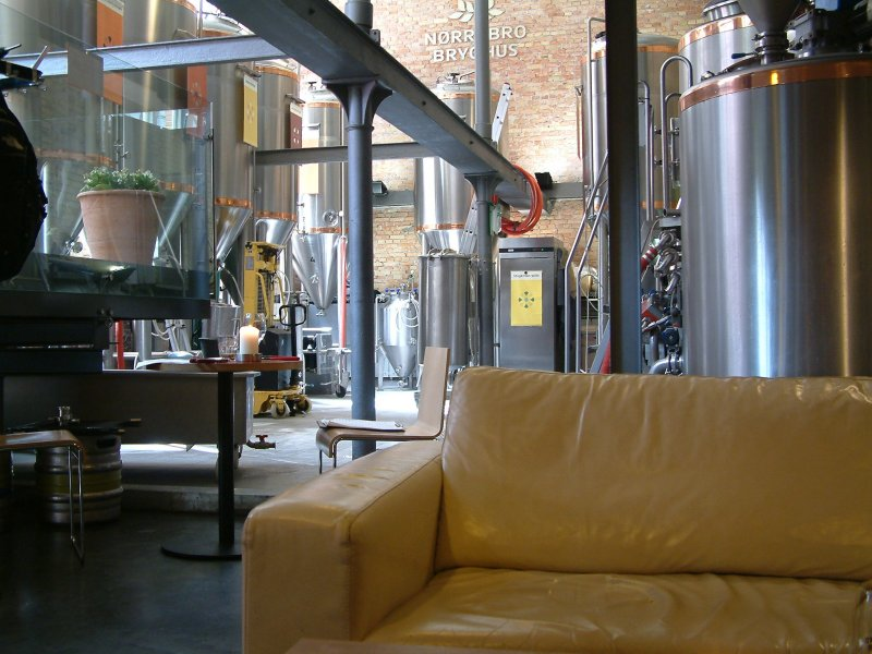 A view from the couch: looking into the brewery at Norrebro