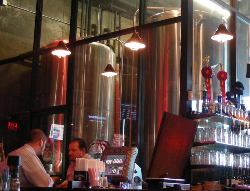 Brew room by the bar