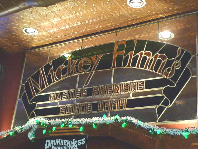 Mickey Finn's stained glass bar arch