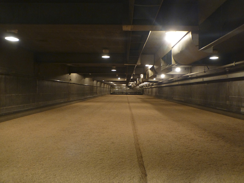 One of the malting rooms.. roasting the malt