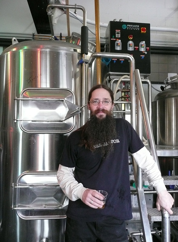 The brewer, Bill Jenkins, in his brewery
