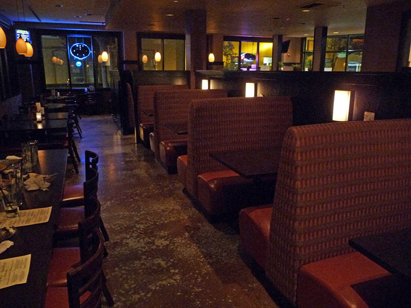 Seating in the dining area