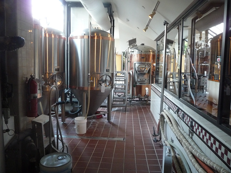 A glimpse inside the brewery