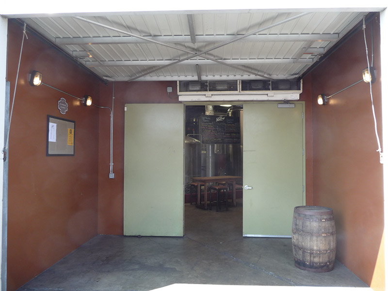 The entrance to the tasting room on the side