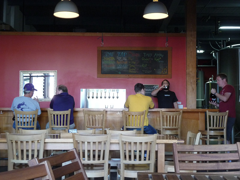 The bar area in the tasting room
