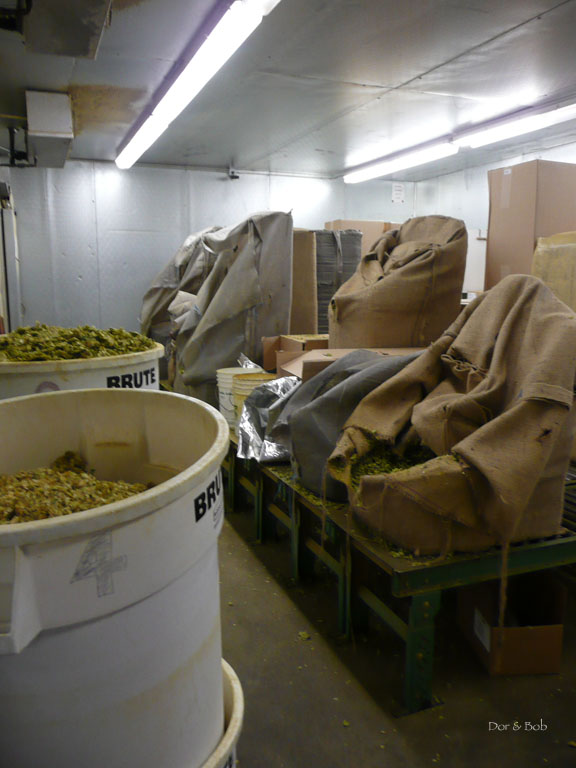 The hop storage room