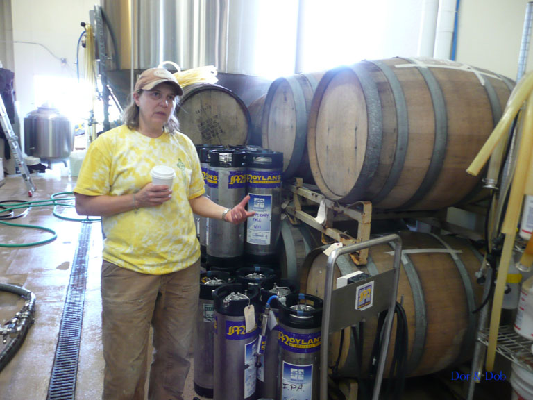 Brewmaster Denise Jones leading a tour of the brewery