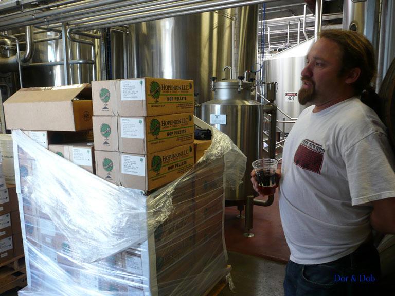 Don, a brewer at Lagunitas, leading a tour
