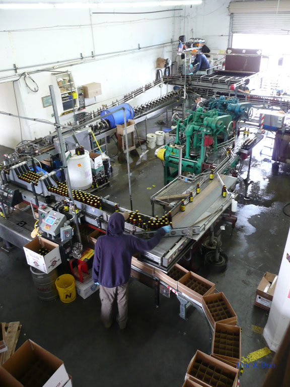 The bottling line