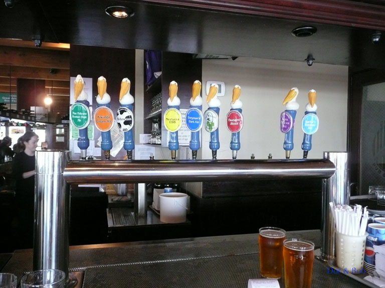 The tap handles on 6/8/09