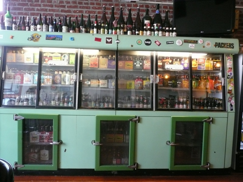 One f the old beer coolers