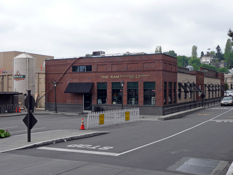 Rear entrance to the bar and brewery