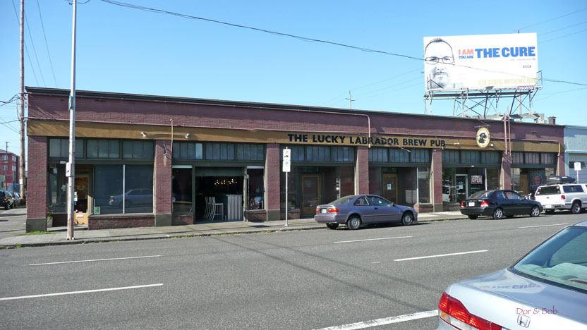 A wide angle view from across the street