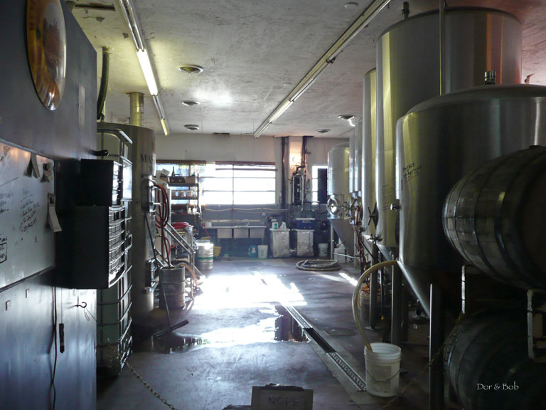 A peek inside the brewery