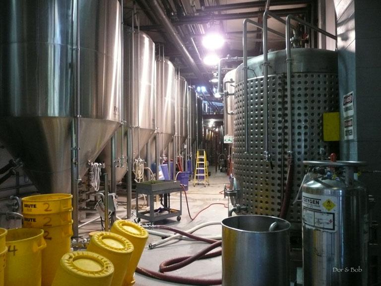 The fermentation tanks