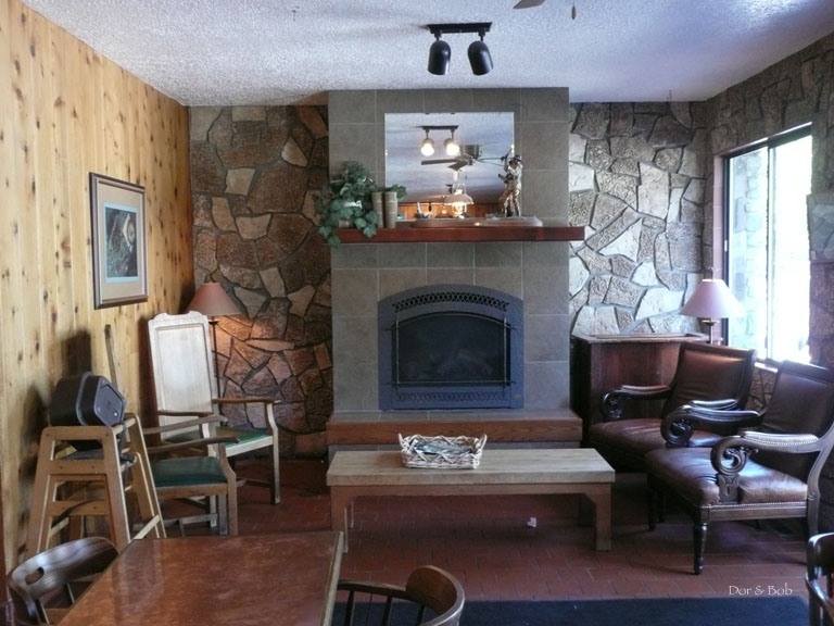 The fireplace alcove