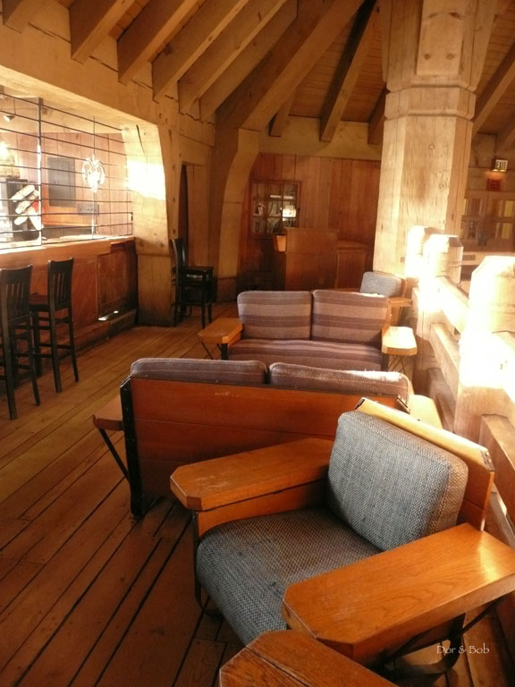 Seating in the bar area
