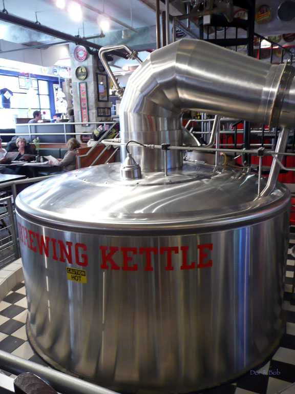 The brew kettle in the front dining area
