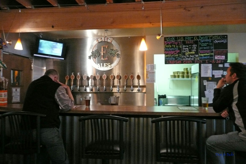 The bar and taps