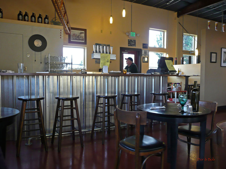 The interior of the tap room