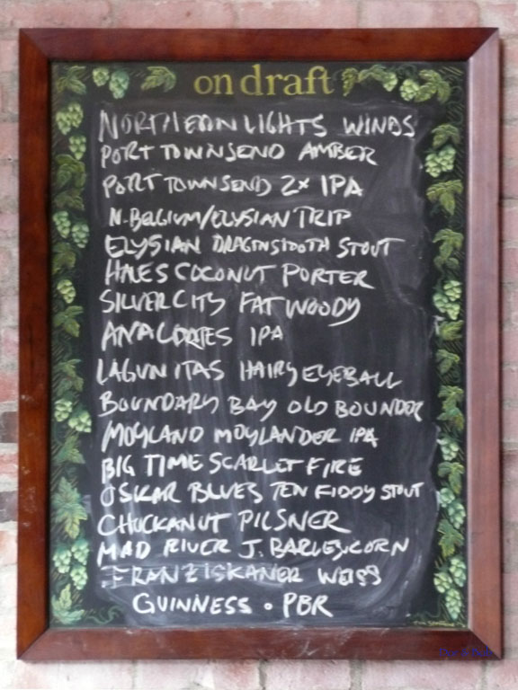 The tap list on 3/18/2009