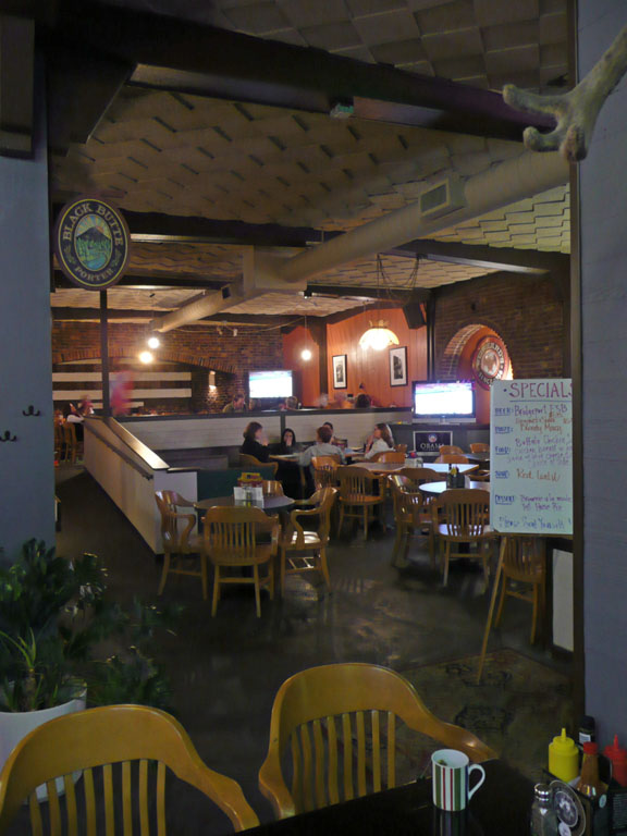 The main dining area seen from the bar