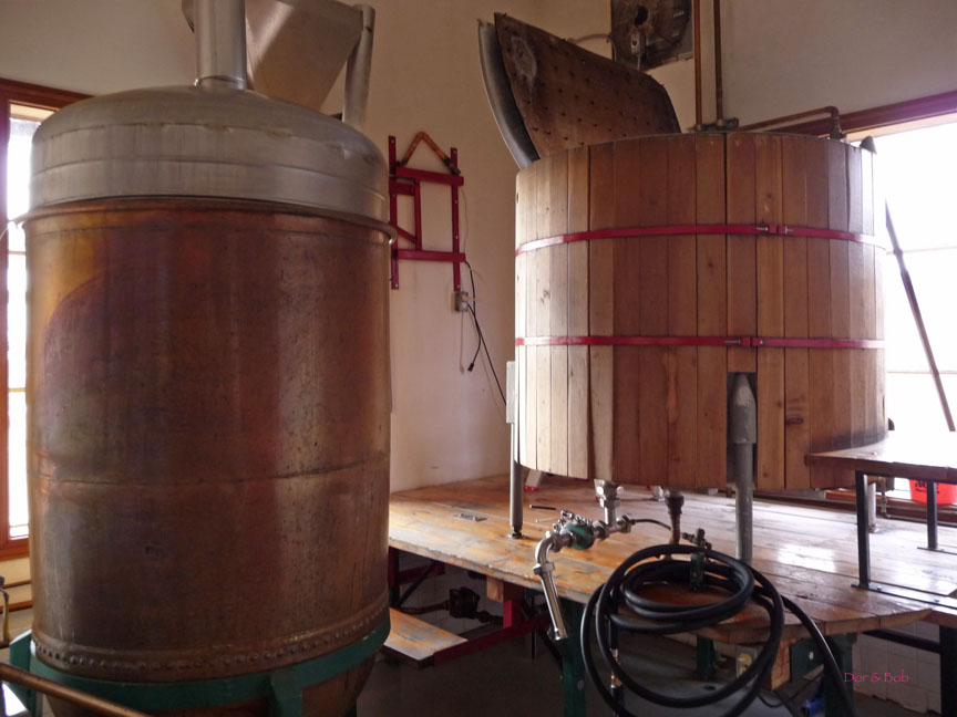 The brew kettle and mash tun