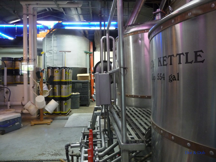 A glimpse of the brewery