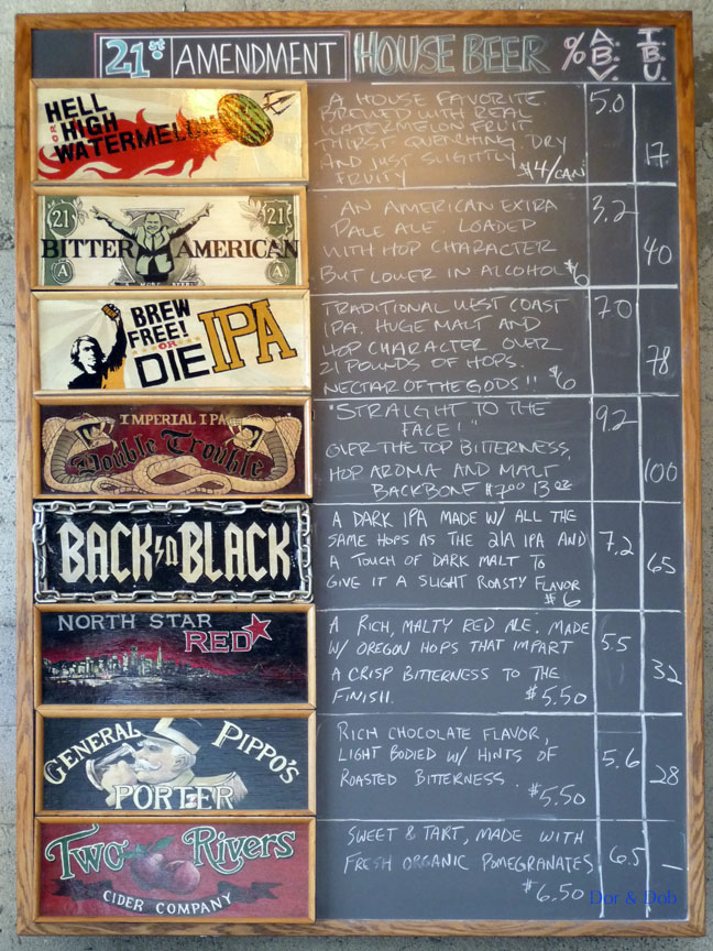 The tap list on 5/27/09