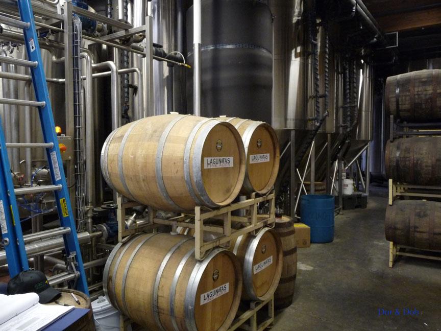 Aging barrels and fermentation tanks