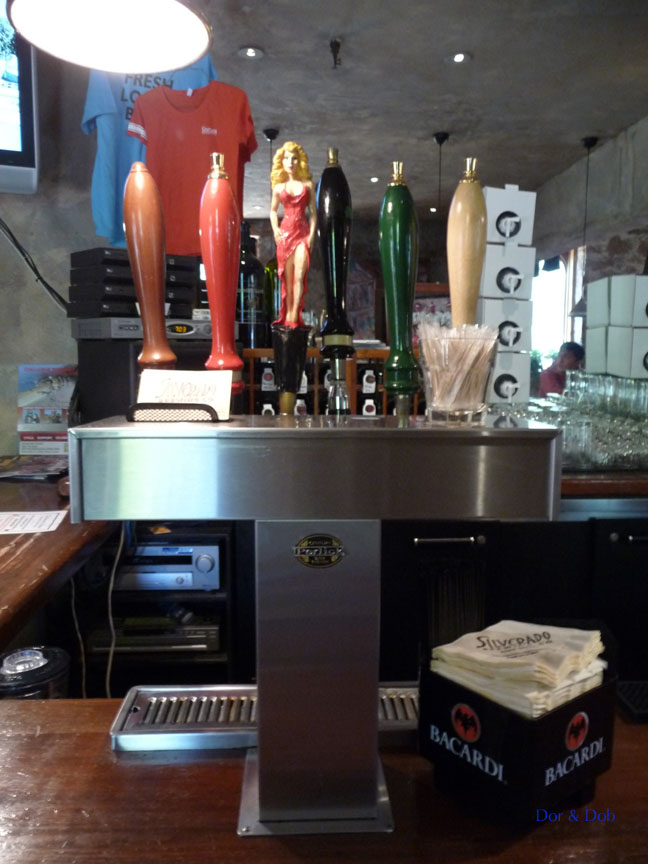 The tap handles