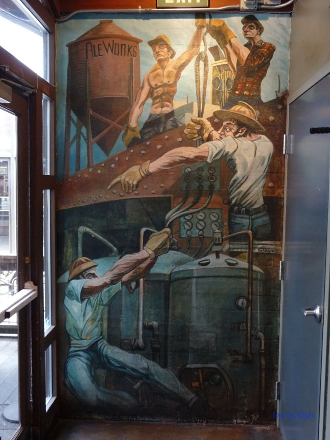 The mural in the entryway