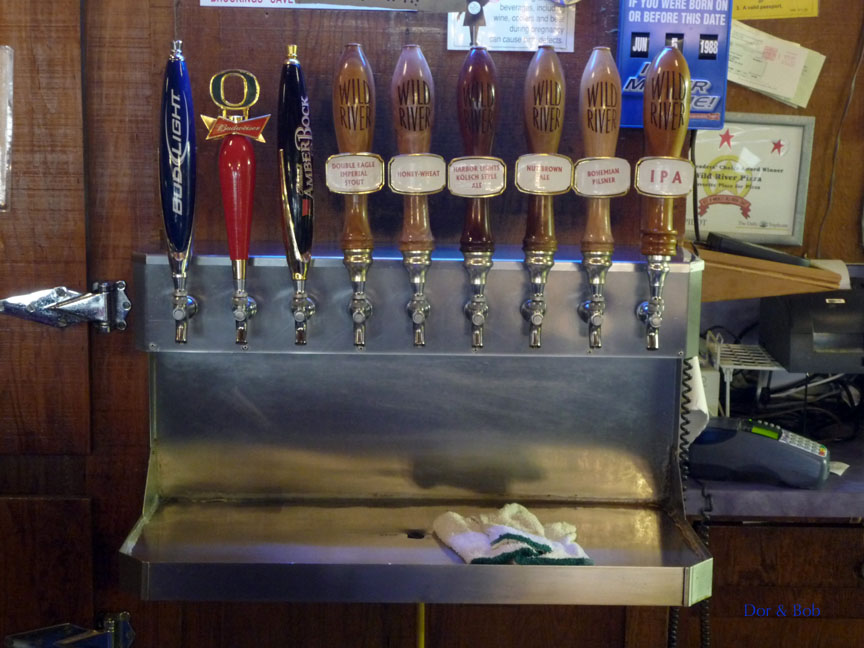The tap handles on 6/4/09
