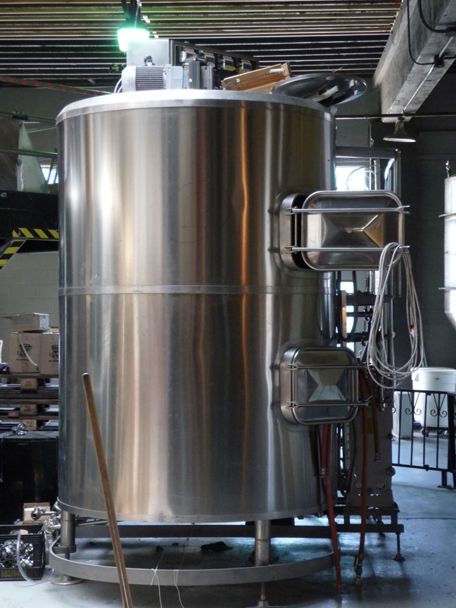 The mash tun in the brewery