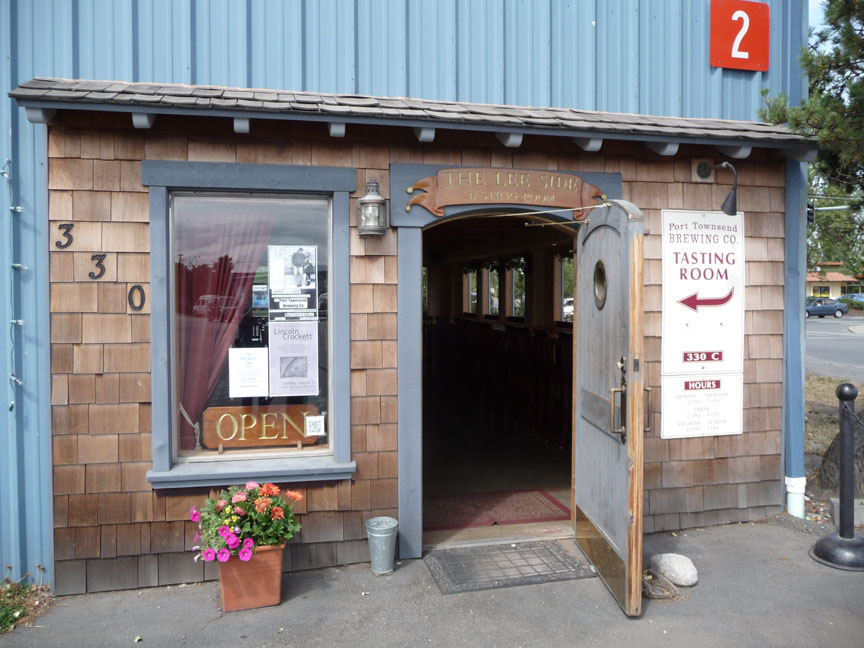 The entrance to the tasting room from the parking lot