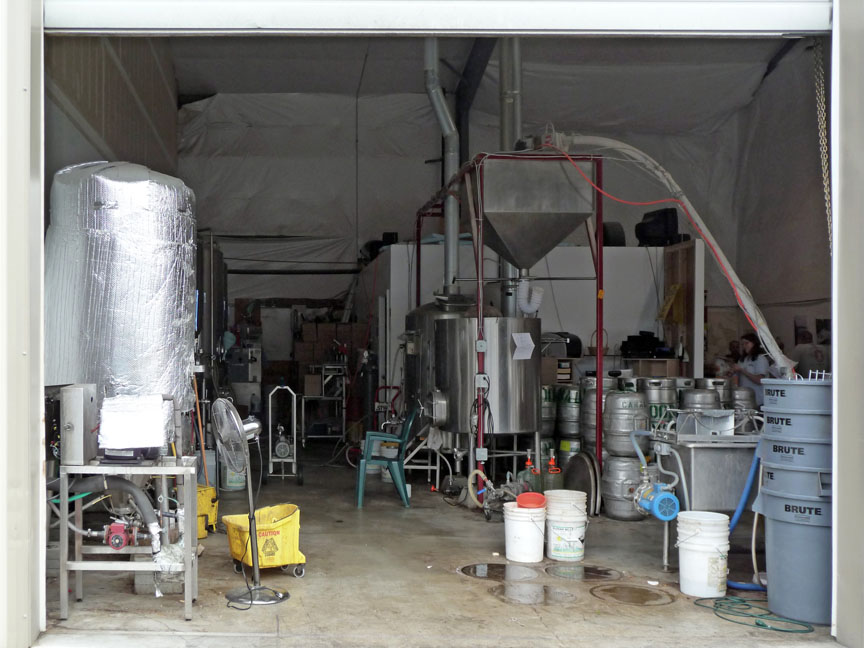 The brewery from the parking lot