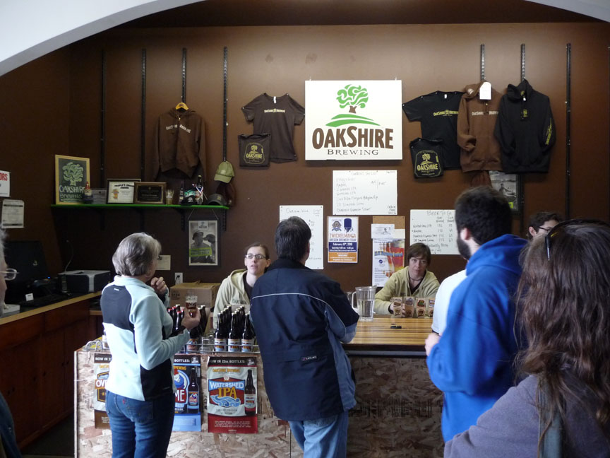 The bar in the tasting room